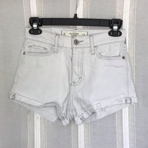 Jean shorts whitish grey